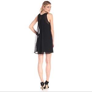 Sam Edelman Black A-line Dress W/ Pleat Detail